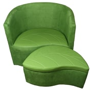 ORE Furniture Suede Barrel Chair