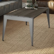 Amisco Wedge Coffee Table; Glossy Grey / Dark Gray