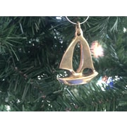 Handcrafted Nautical Decor Sailboat Christmas Ornament