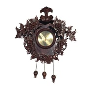 D-Art Collection Grape Carved Clock