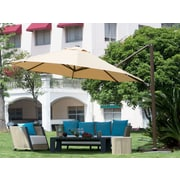 Abba Patio 11' Cantilever Umbrella; Yellow