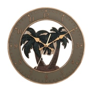 Ashton Sutton 13.5'' Palm Tree Wall Clock