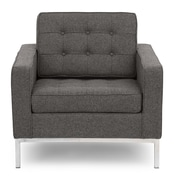 Kardiel Modern Arm Chair; Cadet Gray