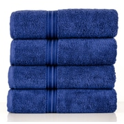 Lunasidus Bergamo Luxury Hotel Bath Towel; Navy Blue