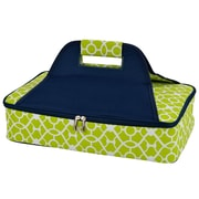 Picnic At Ascot Bold Insulated Casserole Carrier; Trellis Green