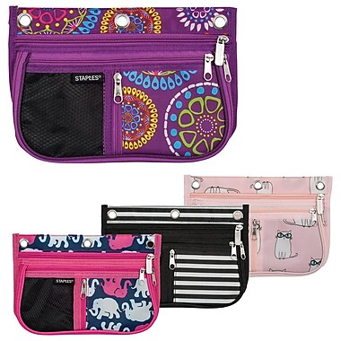 Staples® 3-Ring Binder Pouch with Gusset