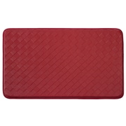 Chef Gear Weave Non-Skid Comfort Diamond Chef Mat; Red