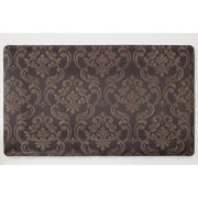 Chef Gear Anti-fatigue Comfort Chain Damask Chef Mat; Chocolate / Linen