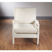 AA Importing Bobbin Frame Arm Chair; White