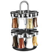 Sweet Home Collection 17 Piece Revolving Spice Mill Set