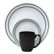 Corelle 16 Piece Dinnerware Set; Black