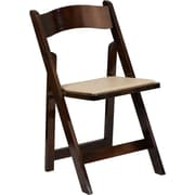 Flash Furniture HERCULES Series Fruitwood Folding Chair with Vinyl Padded Seat, Pack of 4 (4-XF-2903-FRUIT-WOOD-GG)