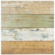 EliteTile Royalty 17.75'' x 17.75'' Ceramic Wood Tile in Brown and Beige