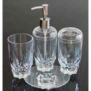 QGoods Inc. Heavy Base Acrylic Plastic 4-Piece Bathroom Accessory Set