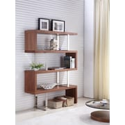 Casabianca Furniture Scala 67'' Accent Shelves Bookcase; Walnut