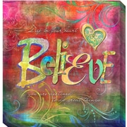 Artistic Home Gallery 'Believe' by Connie Haley Graphic Art on Wrapped Canvas