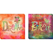 Artistic Home Gallery 'Dream and Believe' by Connie Haley Graphic Art on Wrapped Canvas