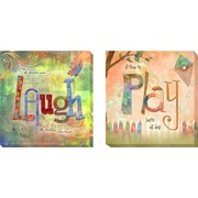 Artistic Home Gallery 'Laugh and Play' by Connie Haley Graphic Art on Wrapped Canvas