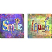 Artistic Home Gallery 'Smile and Laugh' by Connie Haley Graphic Art on Wrapped Canvas
