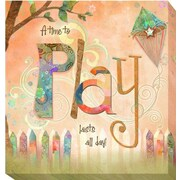 Artistic Home Gallery 'Play' by Connie Haley Graphic Art on Wrapped Canvas