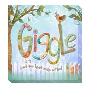 Artistic Home Gallery 'Giggle' by Connie Haley Graphic Art on Wrapped Canvas