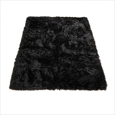 Walk On Me Animal Black Area Rug; Novelty 4'7'' x 6'7''