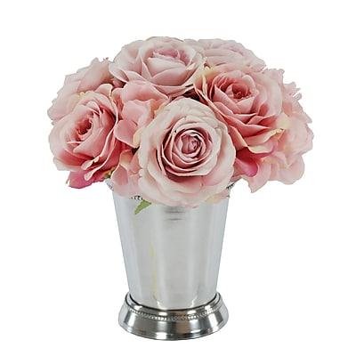 Winward Silks Rose Bouquet in Julep Cup;