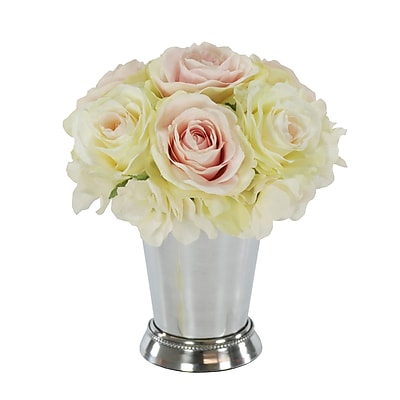 Winward Silks Rose Bouquet in Julep Cup;