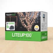 Touch of ECO Liteup 100 Solar String Lights; Cool White