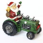 Alpine Santa on Tractor Decor