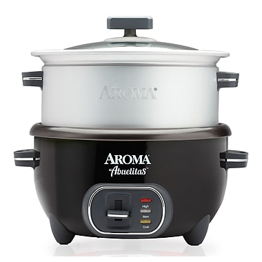 aroma 20 cup abuelitas specialty rice cooker food steamer black staples. Black Bedroom Furniture Sets. Home Design Ideas