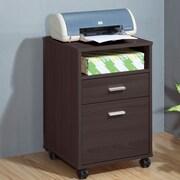 Brassex 2-Drawer Mobile File Cabinet