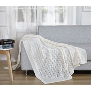 De Moocci Light Weight Knitted Throw Blanket; Snow White