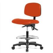 Perch Chairs & Stools 12'' Drafting Chair; Orange Kist