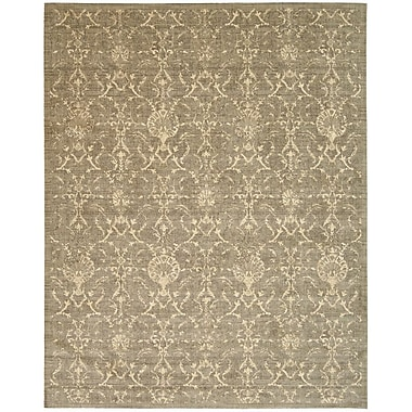 Nourison Silk Elements Moss Damask Rug; 12' x 15'