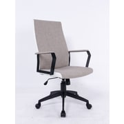 Brassex High-Back Adjustable Office Chair; Grey