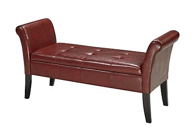 Brassex Storage Bench; Red