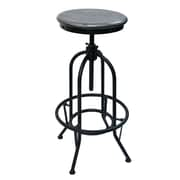 !nspire Adjustable Height Mango/Iron Stool, Distressed Grey