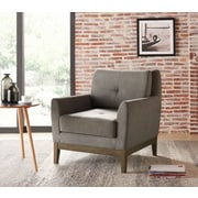 !nspire Fabric/Wood Base Arm Chair, Grey