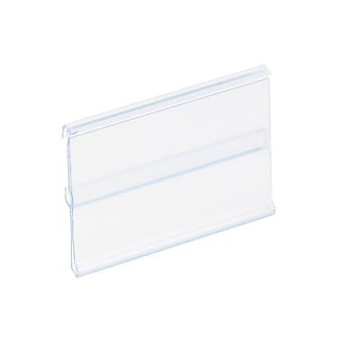 Kostklip® ClearVision® Plate, Stationary Label Holder, 1.25