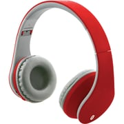 Ilive Iahb64mr Bluetooth® Headphones With Auxiliary Input (matte Red)