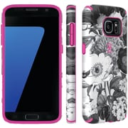 Speck 75848-c139 Samsung® Galaxy S® 7 Candyshell® Inked Case (vintage Bouquet Gray/shocking Pink)
