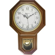 "Timekeeper 180wagm Essex® 17"" Modern Pendulum Wall Clock (faux Wood)"
