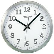 "Timekeeper 2253 9"" Brushed Metal Round Wall Clock (white Face)"