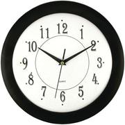 """Timekeeper 6424 12"""" Black Wall Round Wall Clock"""