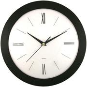 "Timekeeper 6437 12"" Round Roman Black Wall Clock"