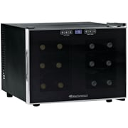 Wine Enthusiast 272031202 Silent 12-bottle Dual-zone Wine Cooler