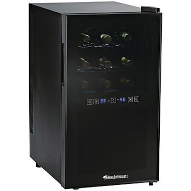 Wine Enthusiast 2720318 Silent 18 Bottle Dual Zone