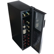 Wine Enthusiast 272031805 Silent 18-bottle Dual-zone Slimline Wine Cooler Slimline Upright Bottle Storage
