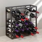 Wine Enthusiast 6312501 Black Steel 25-bottle Stackable Grid